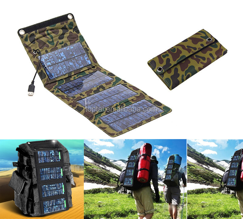 OEM/ODM Factory PRICE 7W USB 5V Foldable Solar Panel Charger for mobile phones/power bank etc