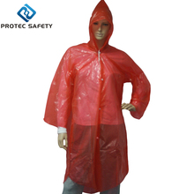 Disposble Colored Plastic Rain Coat Poncho with Hood for Adult