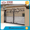 Indian latest alibaba artistic front wrought iron sliding gate simple new luxury outdoor decorative aluminum gate fence design
