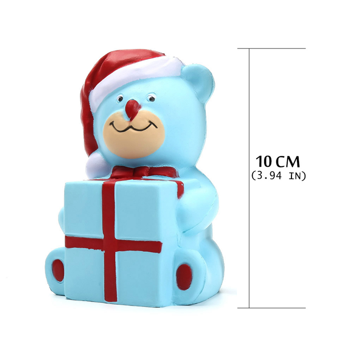 Santa bear Squishy Squeeze Soft Slow Rising squishy Healing Toy Funny Kids Stress Reliever Toys Xmas Gifts