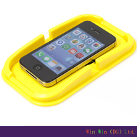 Yellow gel car dashboard sticky pad mat for cell phone double sides sticky