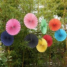 High Quality Beautiful Tissue Paper Fans for Wedding Decoration