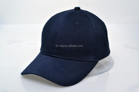 Wholesale 1BOX=24PCS Heavy brushed cotton 6panels navy blank cap with metal buckle Item#8136