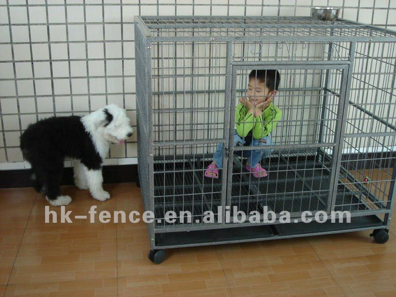 Heavy duty galvanized metal dog kennel