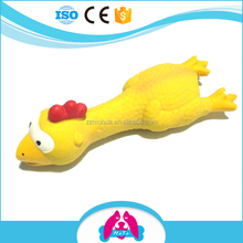 2017 all new pet toys and pet products cartoon yellow duck chicken dog teeth latex pet cat toys