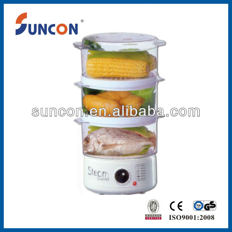 electric plastic food steamer
