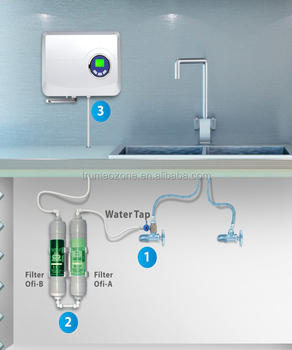 Cheap faucet tap water ionizer with Ozone density 500mg/h or 1000mg/h