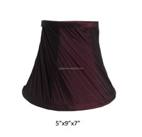 Swirl pleated table lamp shade for buffet lamp