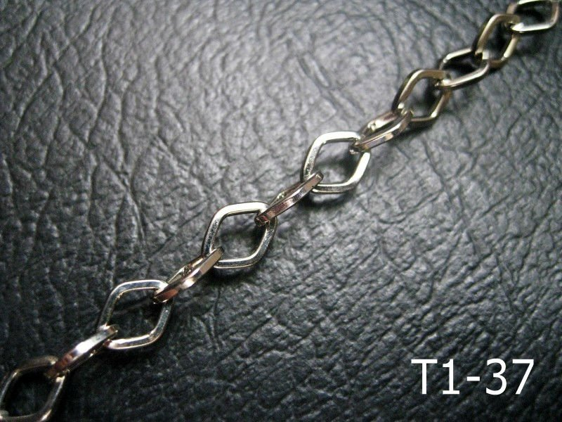 Silver color plated steel fashion ornament jeans chain