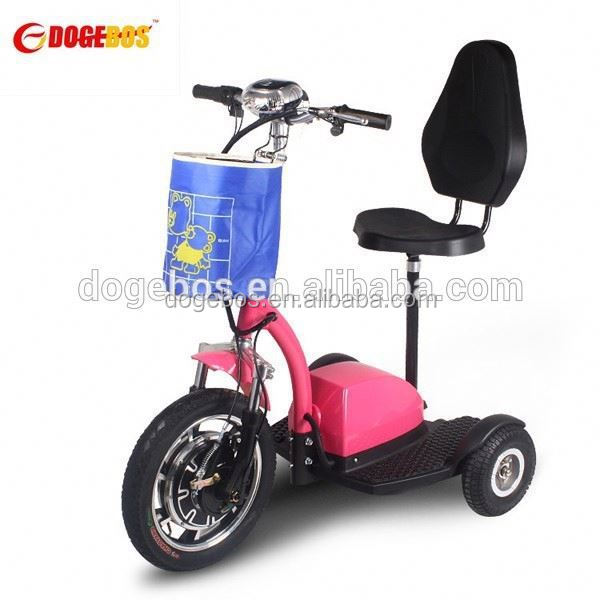 350w/500w lithium battery pizza scooter/tricycle electric 1000watt with front suspension
