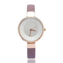 Promotional Elegant Genuine Leather Watch/Minialist Ladies Watches