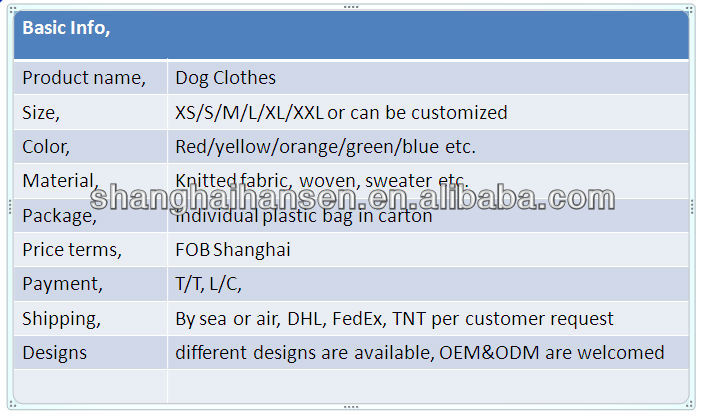 Various High Quality Dog Clothes yiwu pet products