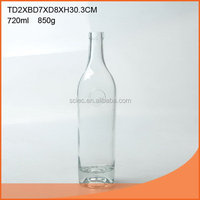 Bottom price promotional glass rum wine bottle