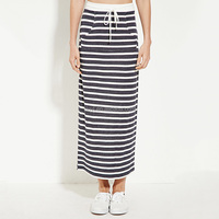wholesale pictures of long skirts and tops striped cotton long skirts for women fashion casual waistband african skirts designs