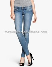 Ready-made Cotton Fashion Ladies Jeans United States Markets