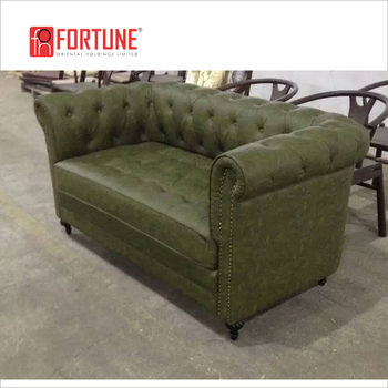 Army green button tufted sofa for dining(FOH-CK43), View button tufted  sofa, Foh Product Details from Guangzhou Mega Import And Export Co., Ltd.  on ...