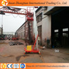 8m 125kg Aluminum Mobile Electric Man Lift, single mast hydraulic lift table