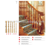Red oak handrail teak wooden stair part