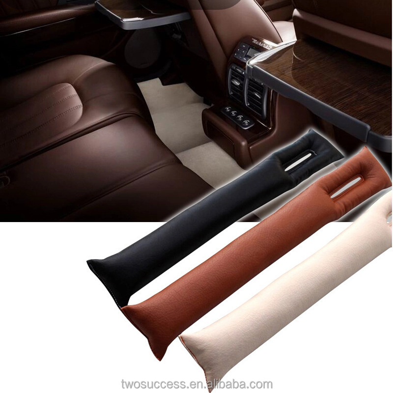 Vehicle Seat Hand Brake Car Seat Gap Filler PU Leather Car Seat Pocket Organizer