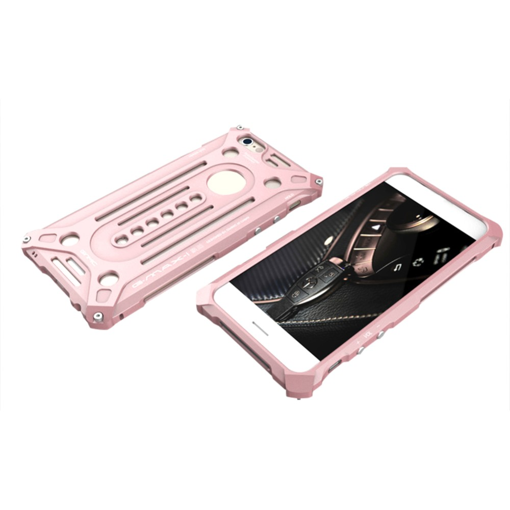 High quality shockproof case for IPhone 6s,metal back cover with screw bumper for IPhone 6s plus