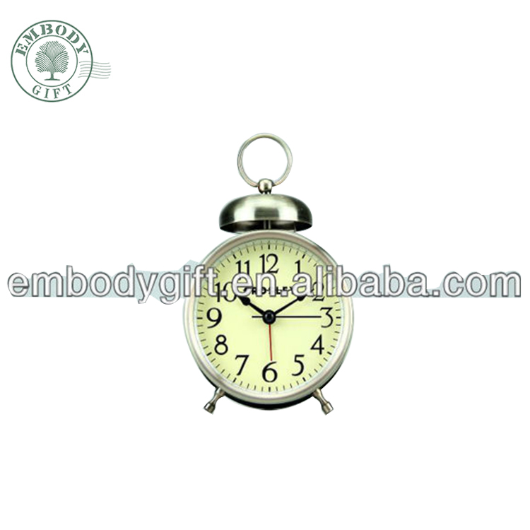 Simple design classic metal vintage alarm clock, wake up alarm clock