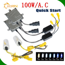 Headlights,35W 55W 75W 100W bi xenon headlight H4 H7 H11 9005 fast start super bright xenon hid kit h7 conversion kit