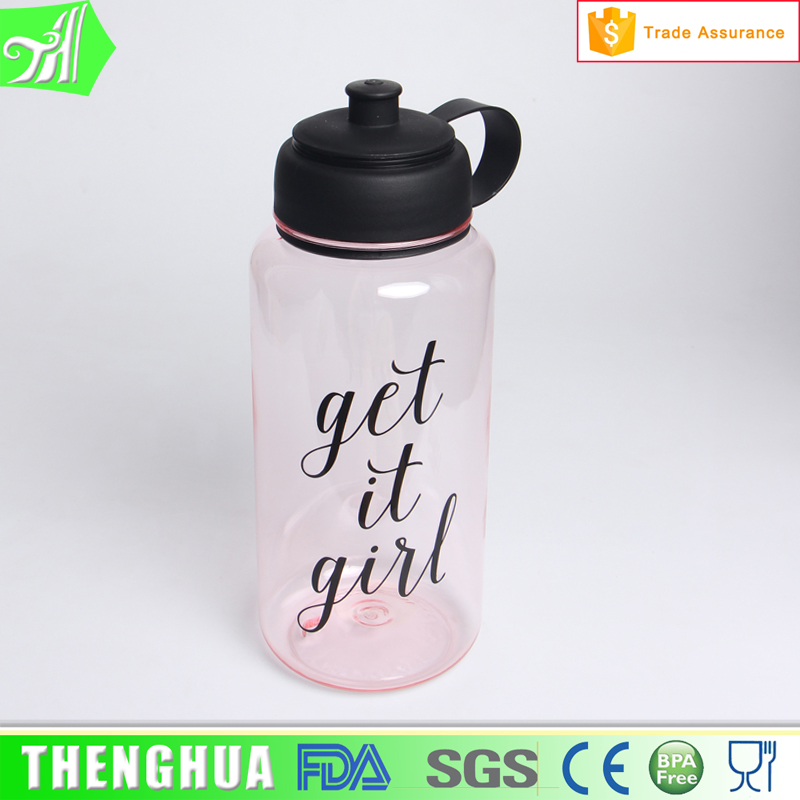 High-Capacity 1 Litre Water Bottle Sport Plastic Water Bottle With Handle 1000
