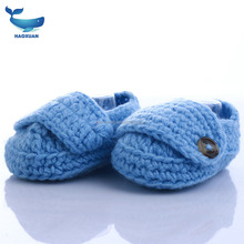 YWDZ0052 HAOXUAN Fashion Dseign Service Supremacy New Born Shoe Hand Crochet Knit Booties Knitting Baby Shoes