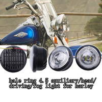 Heated production new made halo ring led light lamp for harley davidson