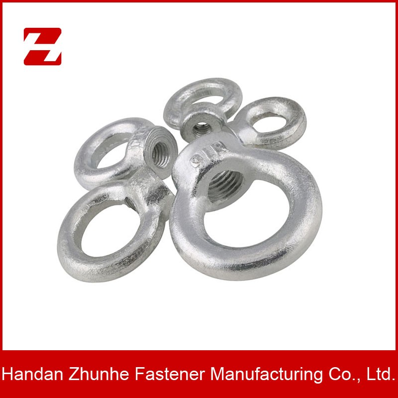 Lifting forged eye nut and ring nut