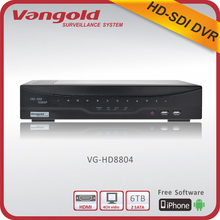 Vangold HD SDI DVR H.264 4 Channel (1080p/1080i/720p) p2p RS485 Interface Vangold PC Client, CMS, Mobile Viewer
