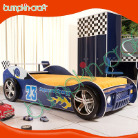HK Bumpkincraft racing full size car bed for kids