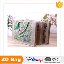 Wholesale high quality tote jute shopping bag