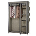 Hot Sale Cheap 2 Door Metal non woven fabric wardrobe
