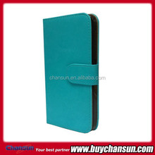 Customized Leather Folio Stand Protective Wallet Case Cover For BLU Life Play Mini L190U