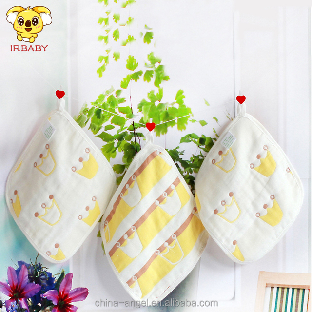 Eco-Friendly washable no fluorescent agent cotton gauze baby custom printed face cloth