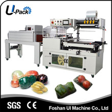 Continuous Side Wrapping Sealing and Shrinking Machine for vegetables, fruits, meat etc.