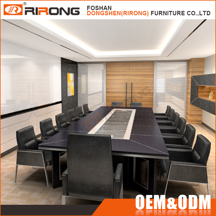 Luxury conference room furniture 6 meters meeting table desk , executive boardroom table