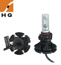 auto parts, P8 LED headlight bulb for car 50w 6000lms high quality car bulb of H4 H7 H8 H9 H11 H13 9005 9006