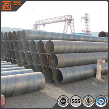 large diameter fluid spiral pipe high strength spiral steel tube china spiral steel pipe