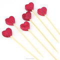 decorative disposable wholesale different type of bamboo skewers with artistick bead
