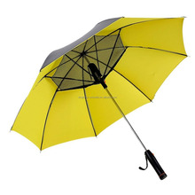 Creative fan umbrella, straight umbrella outdoor UV protection manually