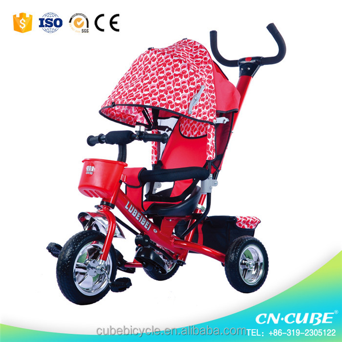 Cheap baby tricycle price, ride on toys stroller baby pram tricycle for kids