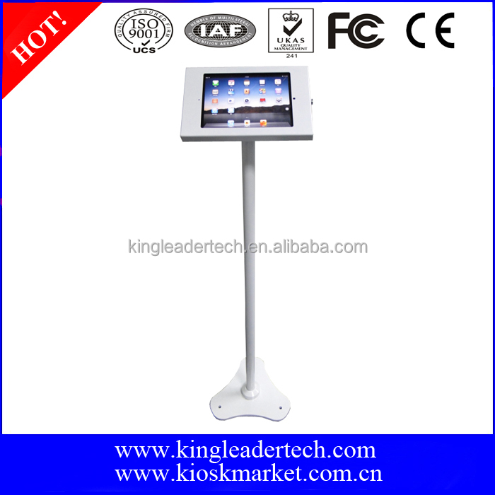 Secure free standing ipad kiosk for ipad