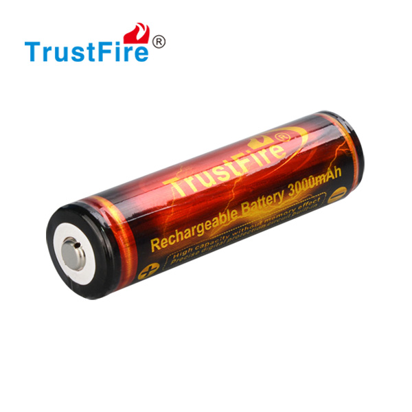 18650 3000mah lithium battery TrustFire 3.7v 500 cycles rechargeable cell with PCB