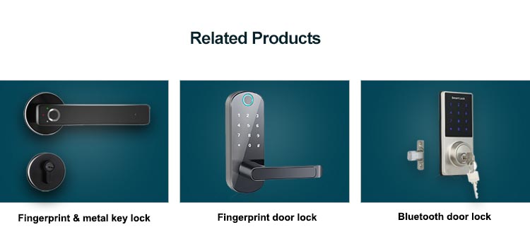 High-End Keamanan Rumah Pintar Remote Control Pengenalan Wajah Smart Door Lock