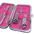 Professionale Pedicure Set 7 pz Nail Clippers Cleaner Cuticola Grooming Kit Manicure Set con il Caso