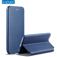 X- Level Top Sale Thin Flip Stand PU Leather Phone Case For iPhone 6s Case