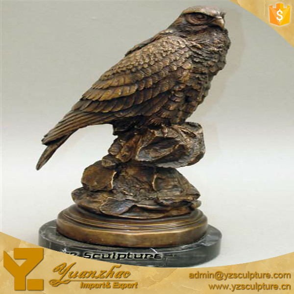 Antique Cast Bronze fat Eagle Sculpture