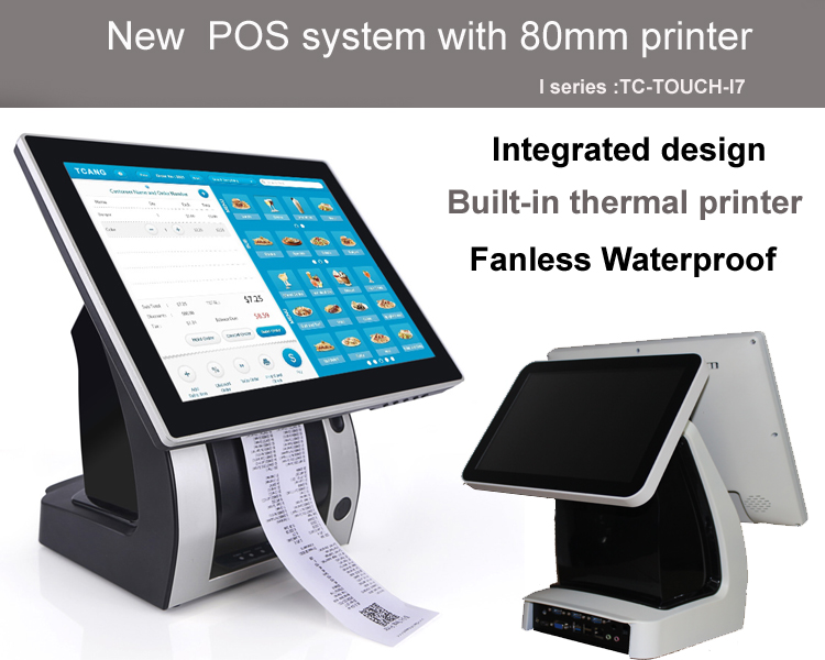 2017 Touch Screen Pos Terminal Pos Machine POS system With Printer
